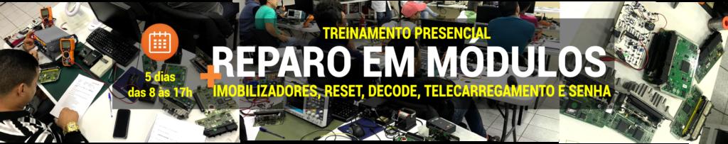 Turma de 19 a 23/09 - Reparo em (ECU) + Decode, Reset e Imobilizadores, Telecarregamento e leitura de senha (tudo sem máquina).
