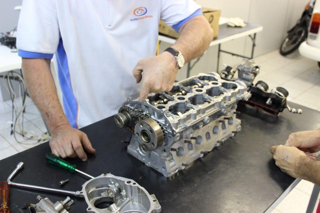 Iniciando desmontagem do motor