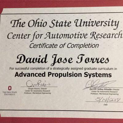 Certificado Professor David TorresResultado